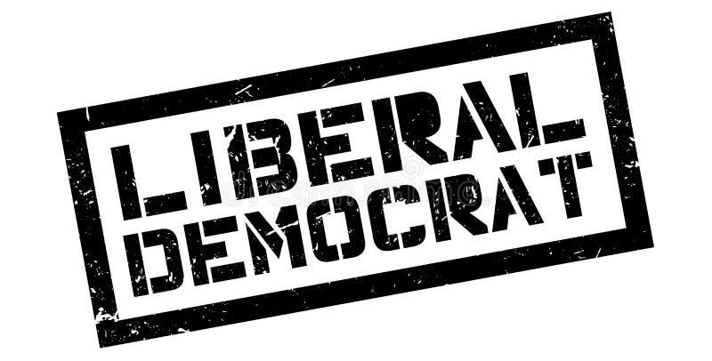 Liberal Democrat rubber stamp. On white. Print, impress, overprint stock photography
