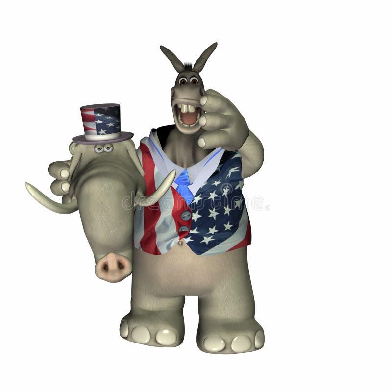 Liberal en la ropa conservadora libre illustration