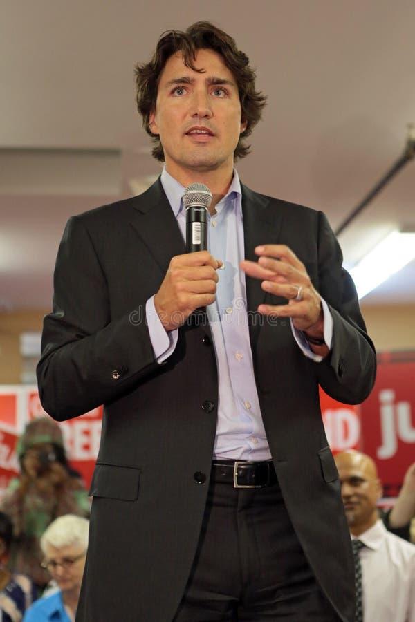 Liberale Partijleider Justin Trudeau stock afbeeldingen