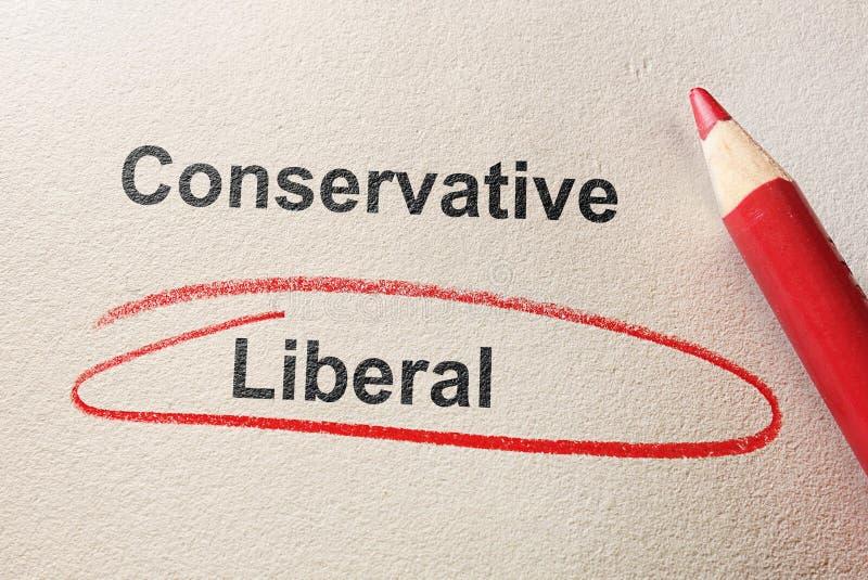 Liberalny czerwony okrąg obraz royalty free