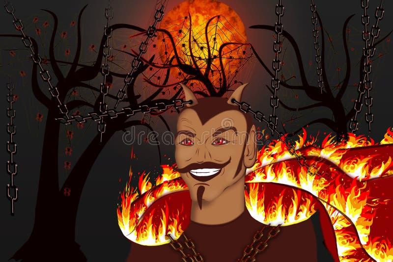 Liberation of the devil vector illustration