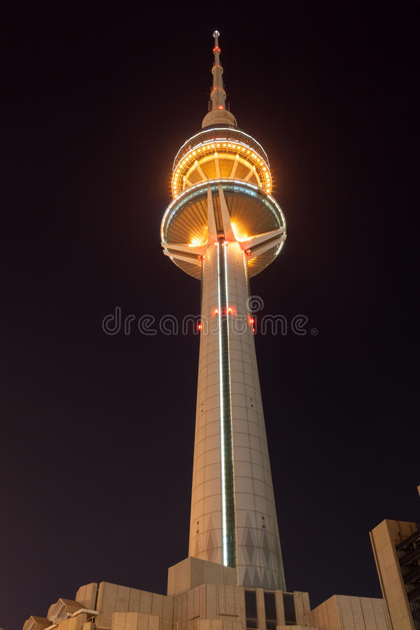 The Liberation Tower in Kuwait City royalty free stock photography