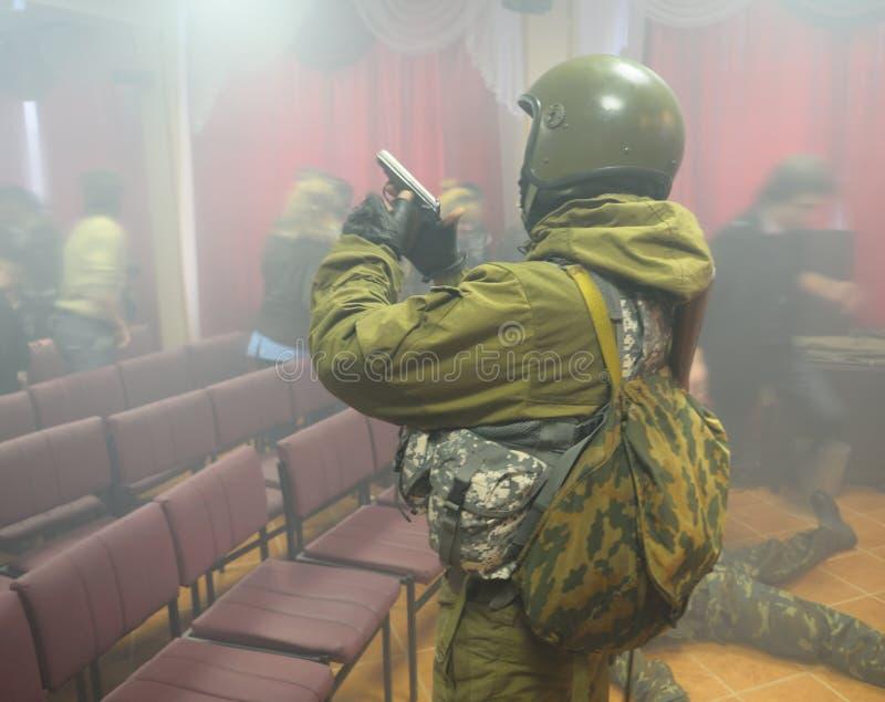 Liberazione degli ostaggi. fotografia stock libera da diritti