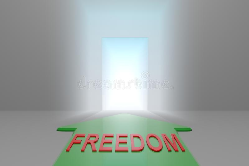 Liberdade à porta aberta ilustração royalty free