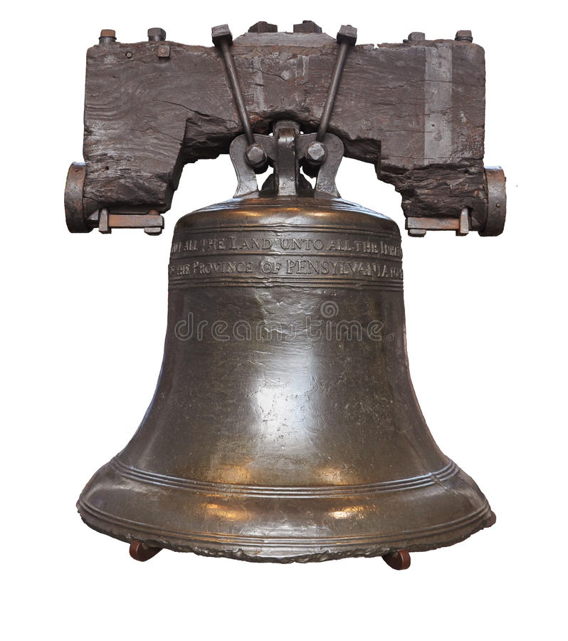 Liberdade Bell isolada imagem de stock