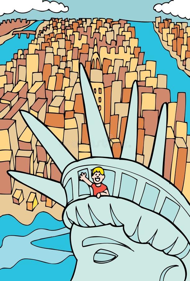 Liberdade da estátua ilustração royalty free