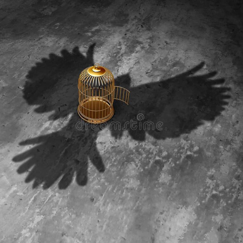 Liberdade da gaiola ilustração royalty free
