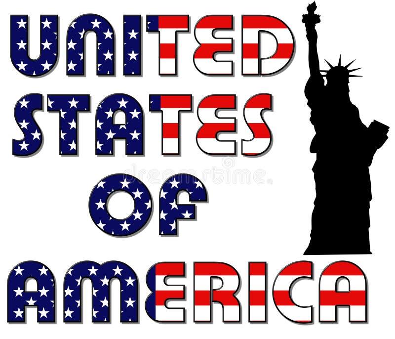 Liberdade de Estados Unidos da América e de senhora ilustração royalty free