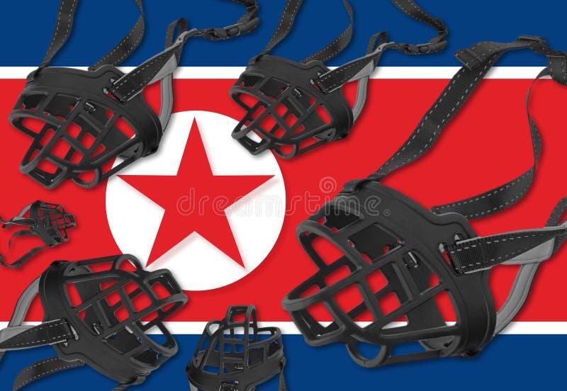 Liberdade de expressão e de direitos humanos na Coreia do Norte imagens de stock