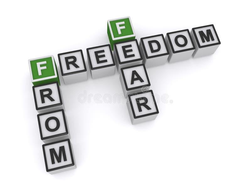 Liberdade do medo imagem de stock