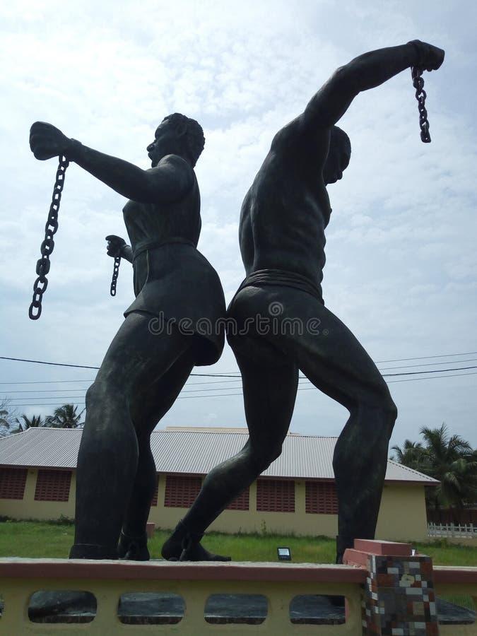 Liberdade do monumento de badagry, Lagos, Nigéria fotografia de stock