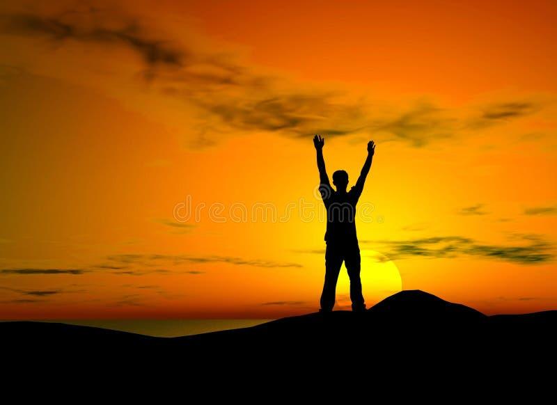 Liberdade do por do sol imagem de stock