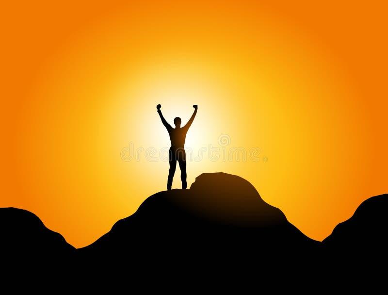 Liberdade e sucesso ilustração stock