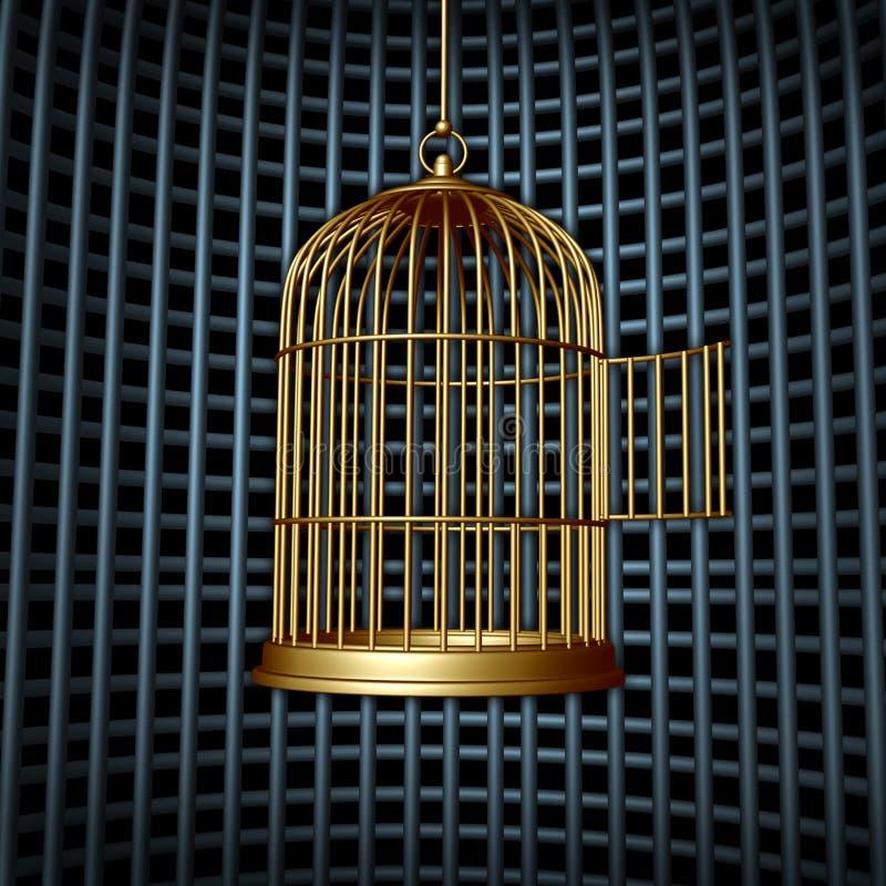 Liberdade falsa ilustração do vetor