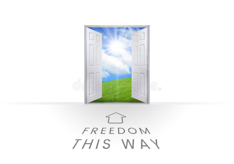 Liberdade gráficos deste texto da maneira ilustração do vetor