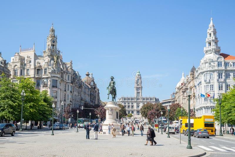 Liberdade kwadrat Porto obrazy royalty free