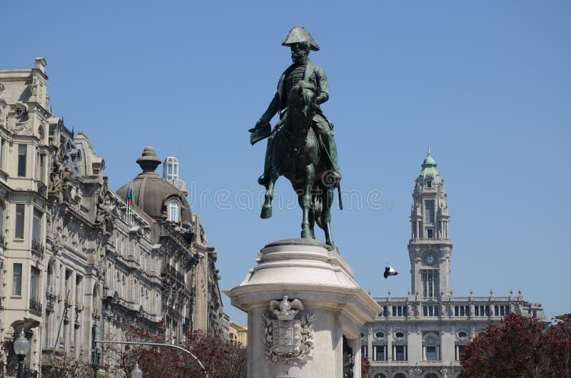 Liberdade kwadrat, swoboda lub wolność kwadrat; Porto zdjęcie royalty free