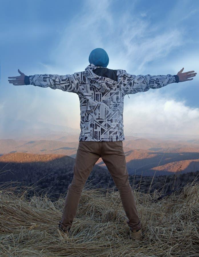 Liberdade nas montanhas foto de stock
