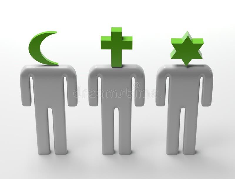 Liberdade religiosa ilustração royalty free