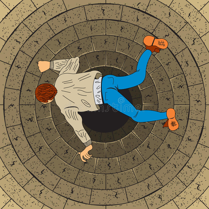 Libere al hombre de la caída stock de ilustración