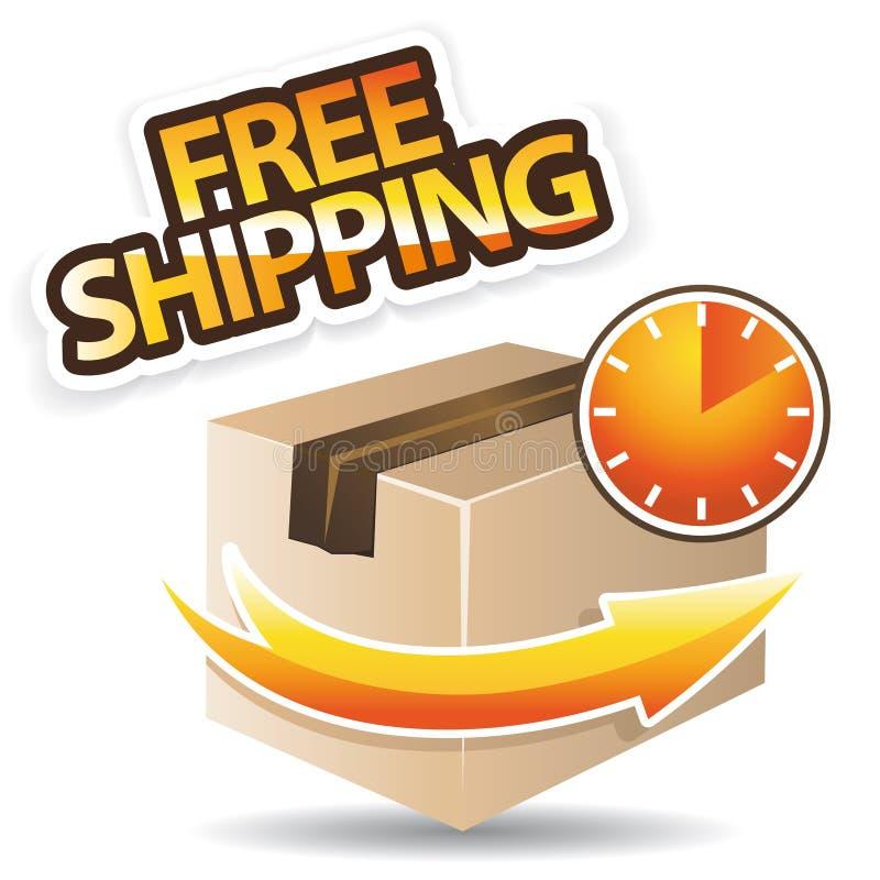 Libere el icono de la naranja del envío libre illustration