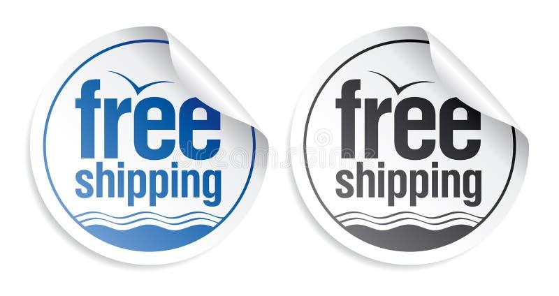 Libere las etiquetas engomadas del envío. libre illustration