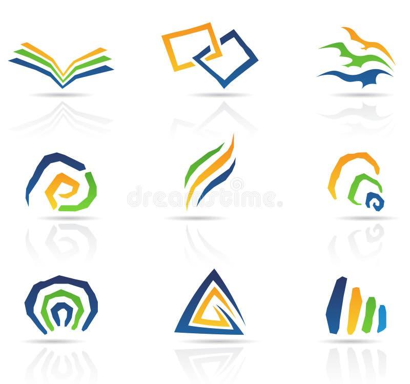Libere los iconos abstractos del estilo ilustración del vector