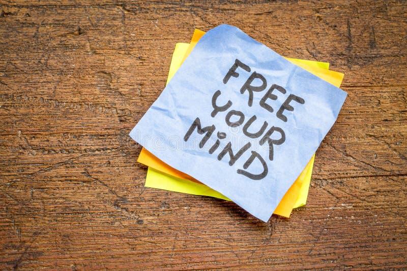 Libere su consejo de la mente o nota del recordatorio fotos de archivo