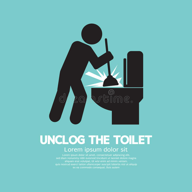 Liberi da ostacoli il simbolo del nero della toilette illustrazione vettoriale