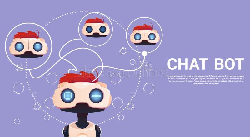 Liberi il Bot di chiacchierata, l'elemento virtuale di assistenza del robot del sito Web o le applicazioni del cellulare, concett royalty illustrazione gratis