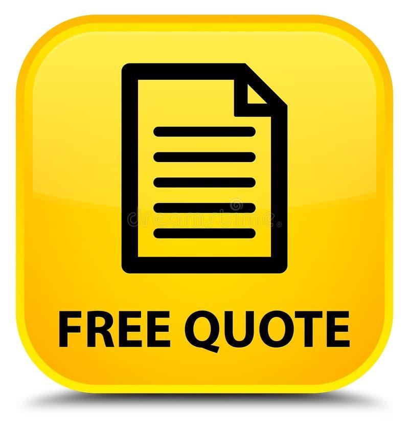 Liberi il bottone quadrato giallo speciale di citazione (icona della pagina) royalty illustrazione gratis