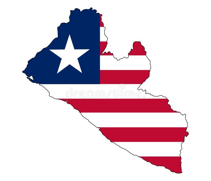 liberia Översikt av den Liberia vektorillustrationen stock illustrationer