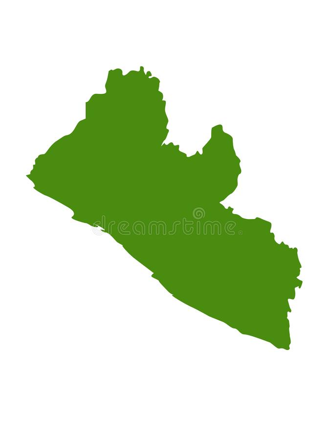 Liberia översikt - land på det västra - afrikansk kust stock illustrationer