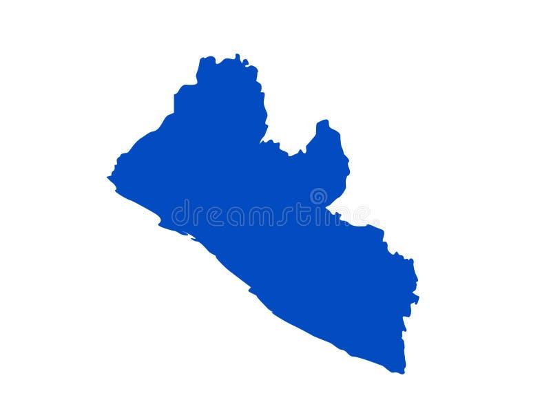 Liberia översikt - land på det västra - afrikansk kust royaltyfri illustrationer