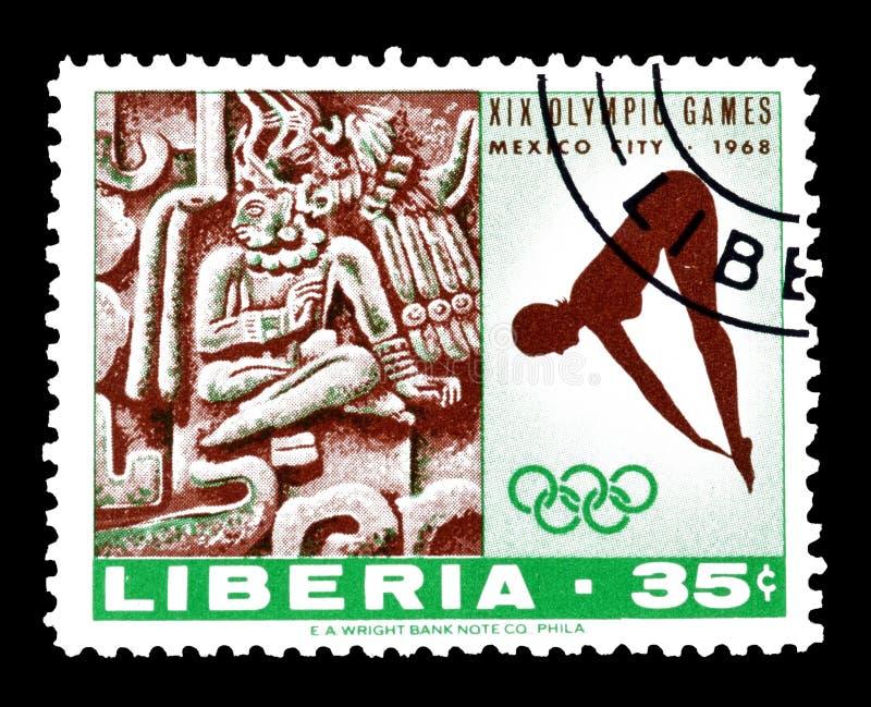 Liberia auf Briefmarken stockfoto