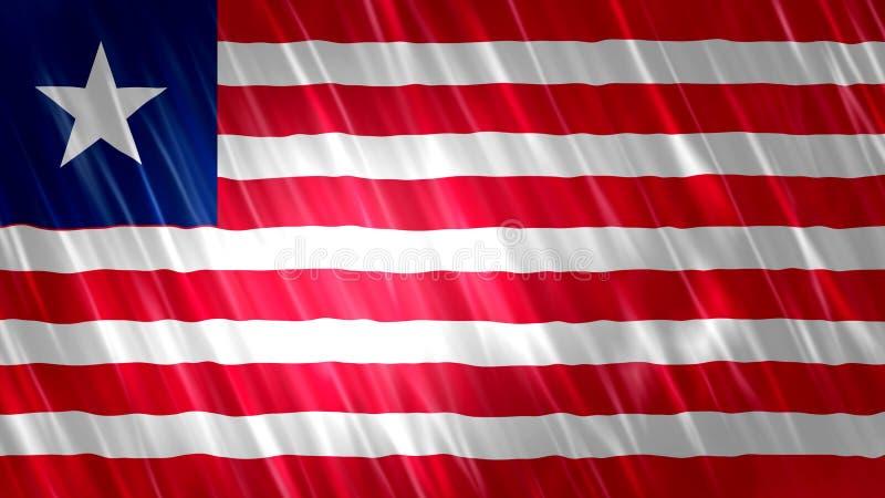 Liberia flaga ilustracji