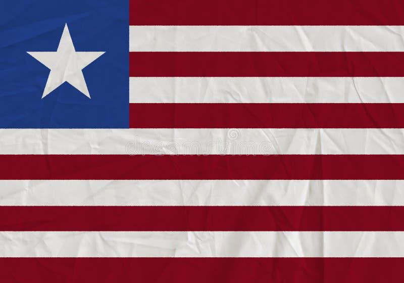 Liberia grunge flag royalty free stock photos