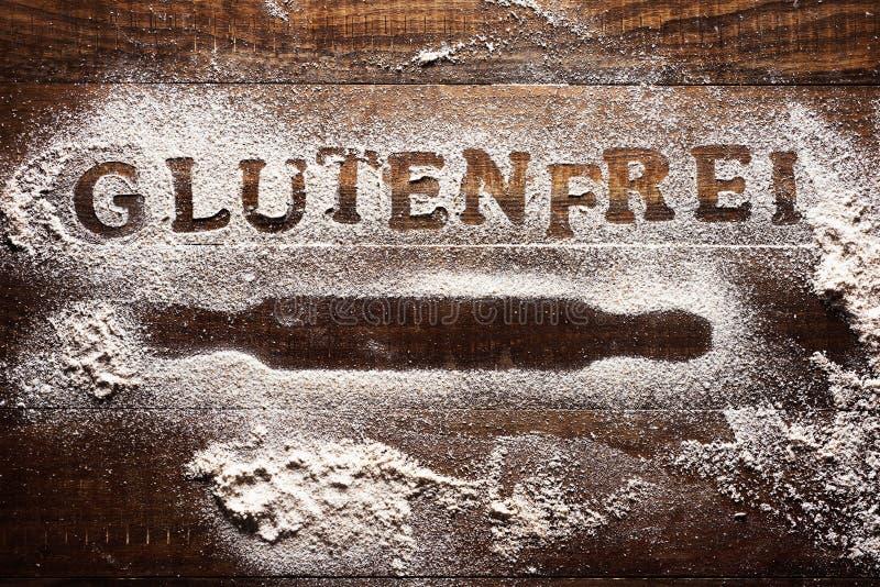Libero del glutine del testo scritto in tedesco fotografie stock libere da diritti