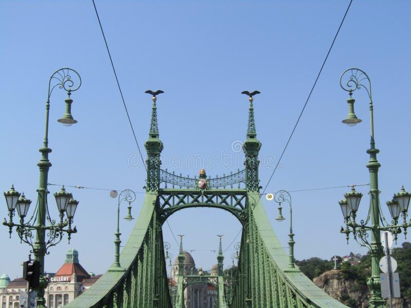 liberté de Budapest de passerelle photos stock