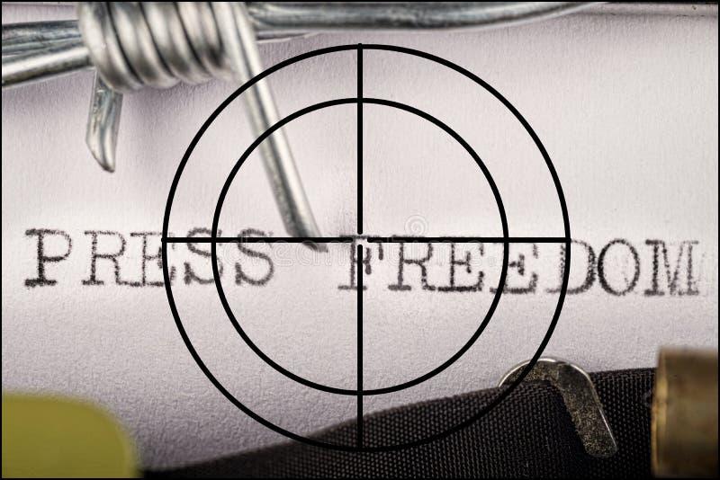 Liberté de concept de presse photo libre de droits