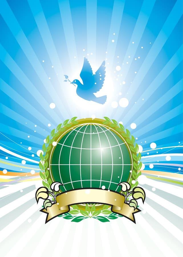 Liberté et environnement global illustration stock