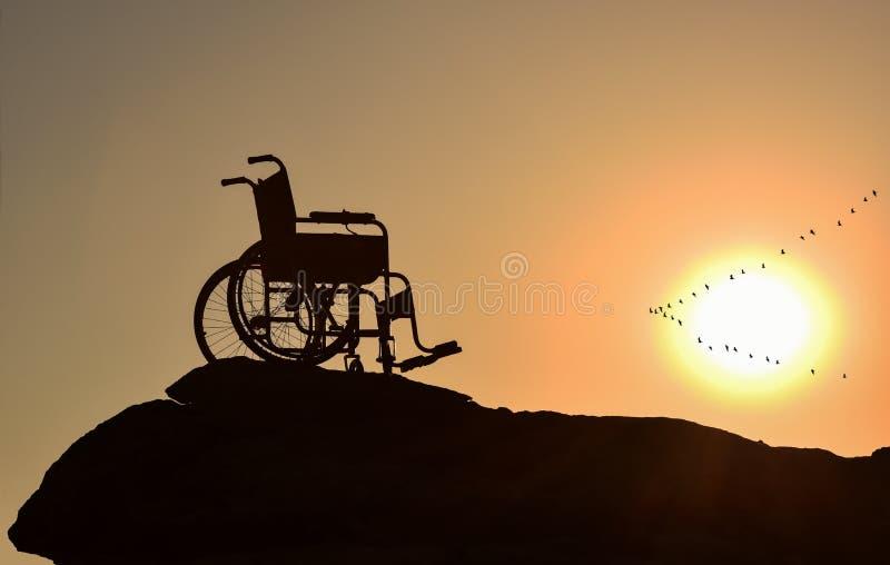 Liberté et solitude et incapacités et handicapé image stock