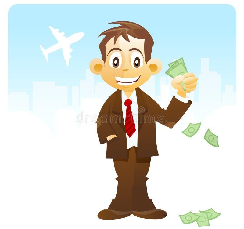 Liberté financière. homme d'affaires. illustration de vecteur