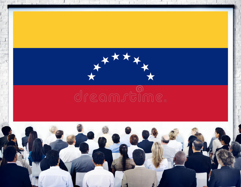 Liberté LIberty Concept de gouvernement de drapeau national du Venezuela photos stock