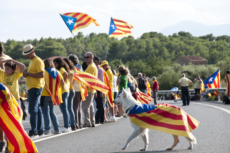 Liberté pour la Catalogne photographie stock