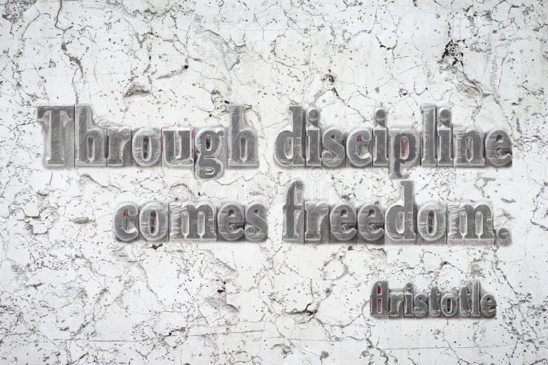 Libertad Aristotole de la disciplina imágenes de archivo libres de regalías
