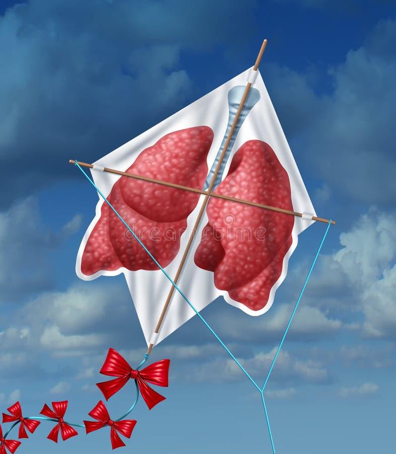 Libertad de los pulmones ilustración del vector