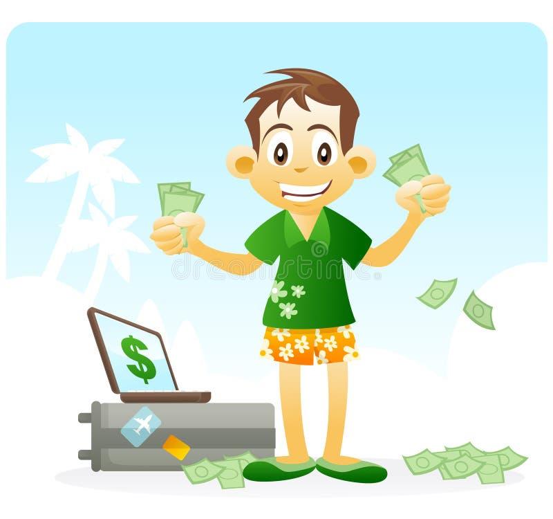 Libertad financiera. renta pasiva. libre illustration