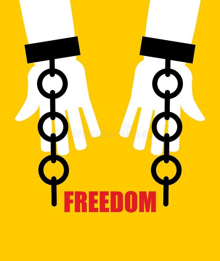 Libertad Grilletes quebrados Liberación de la esclavitud Cadena quebrada h libre illustration