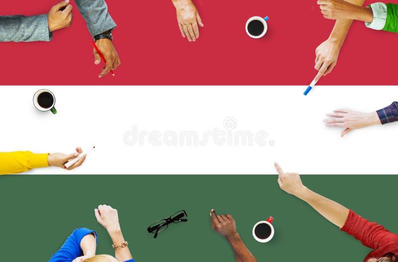 Libertad Liberty Concept del gobierno de la bandera nacional de Hungría imagenes de archivo